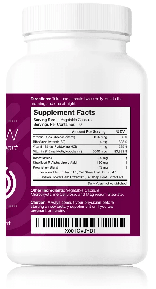 List of ingredients and dosages in Nerve Renew
